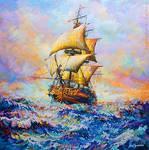 Ship art , Ship painting ,Leon Devenice