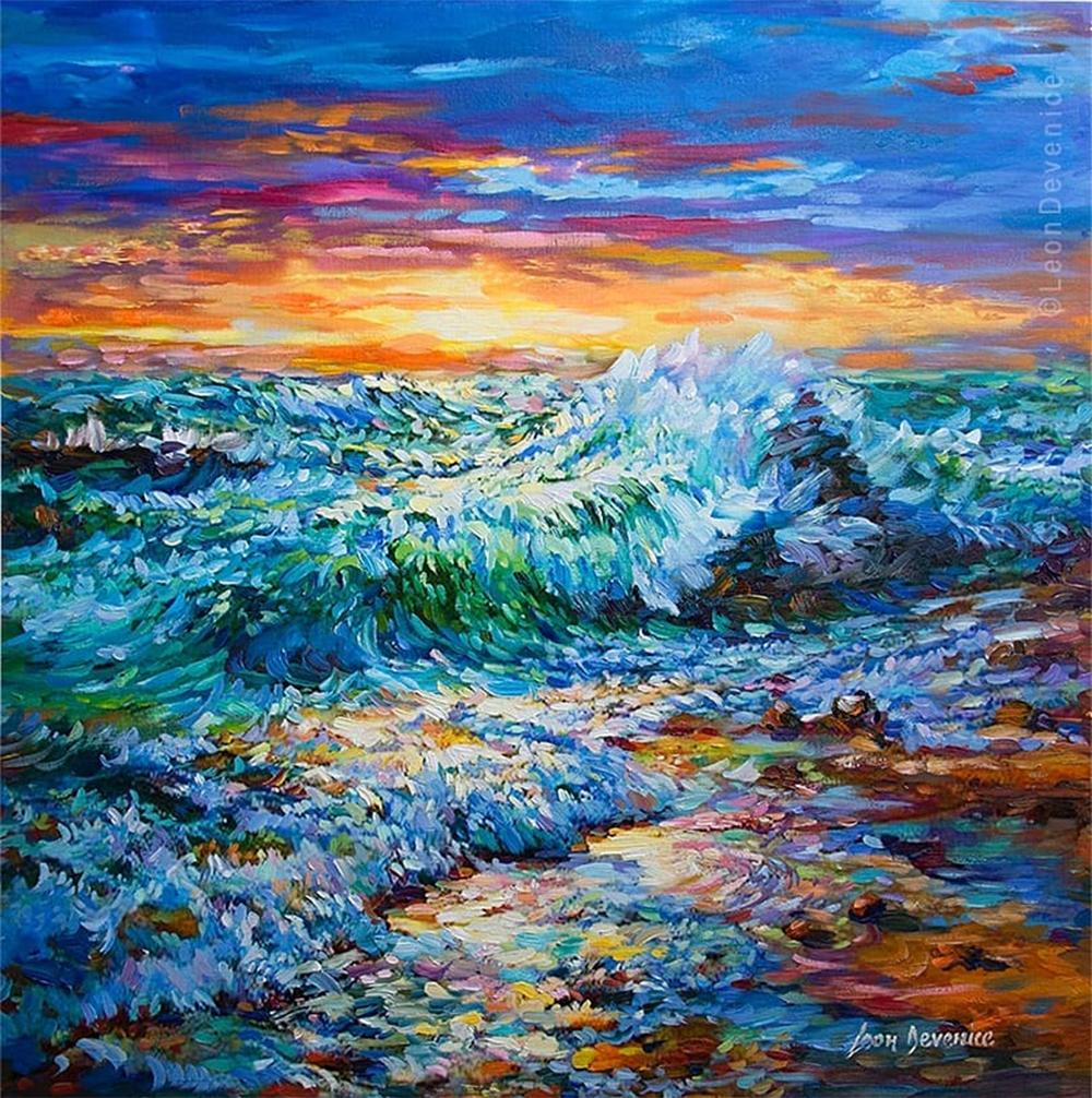 Ocean painting , Sea painting, Leon Devenice