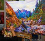 Leon Devenice , Landscape Painting, Landscape art