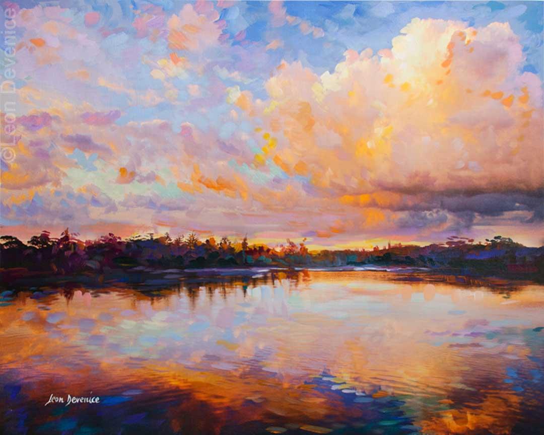 Leon Devenice, Landscape painting , Landscape art