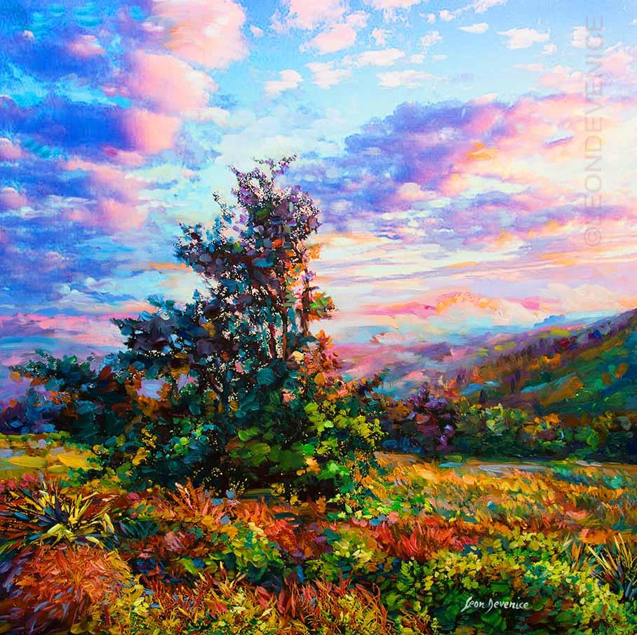 Leon Devenice , Original landscape painting ,