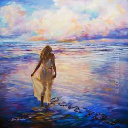 LEON DEVENICE, Seascape , sea painting ,ocean art