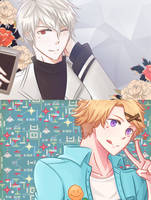 130916 The Handsome Zen and The Nerd Yoosung by ijuraru