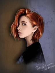 Portrait Study by PatrykRaczkoArt