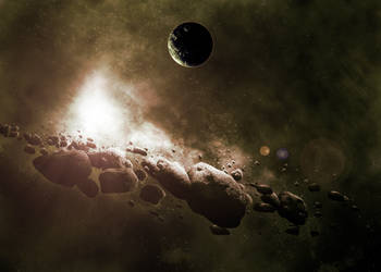 Asteroids by kattenfelix