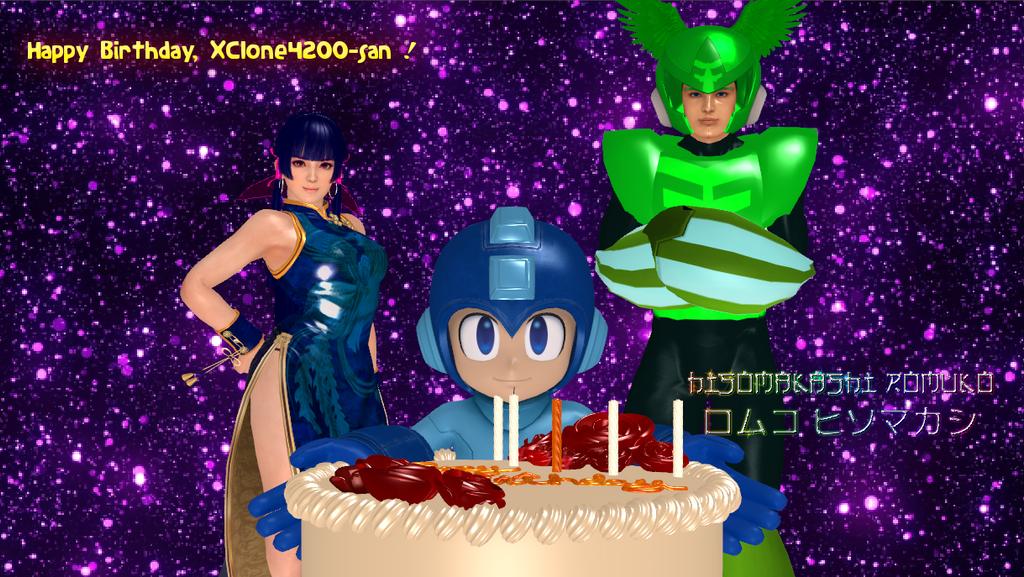 Happy Birthday, XClone42OO-san! by Rouzalos64