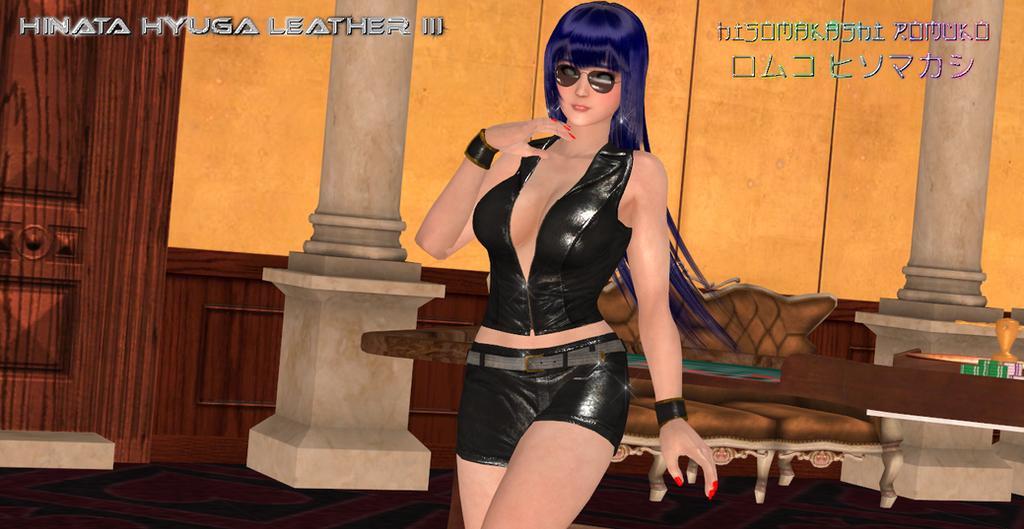 Hinata Hyuga Leather III by CrystalRomuko