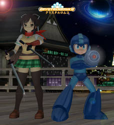Senran Kagura x Mega Man: Asuka and Mega Man