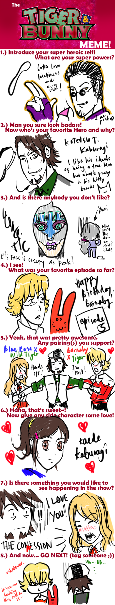 Tiger and Bunny Meme by hentist