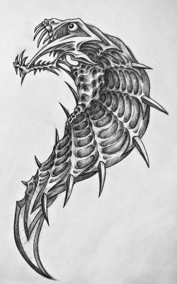 Cobra by bobby79  Cobra Skeleton Tattoo