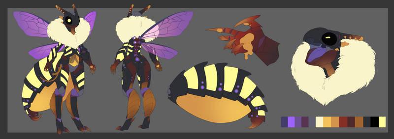 Co: Cyborg Bee Ref Sheet + Design