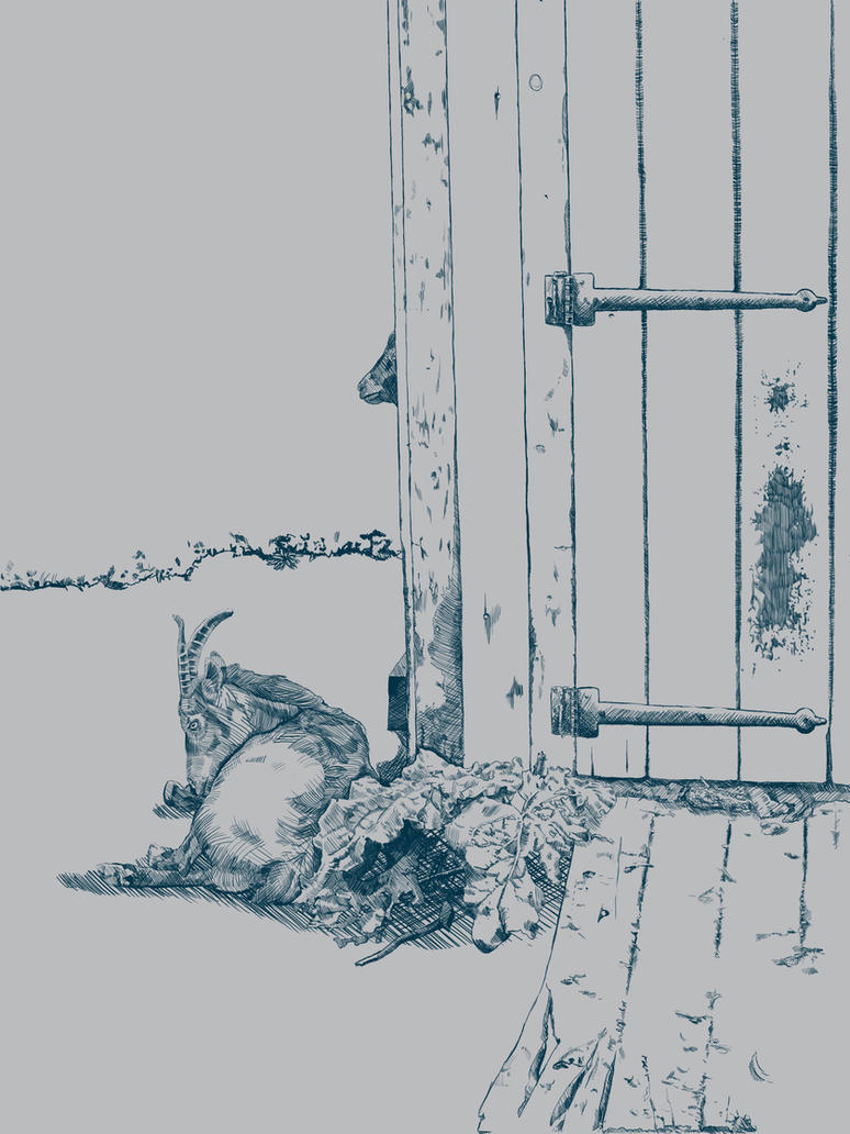 Peek-A-Boo-Goat by Kunsthaus