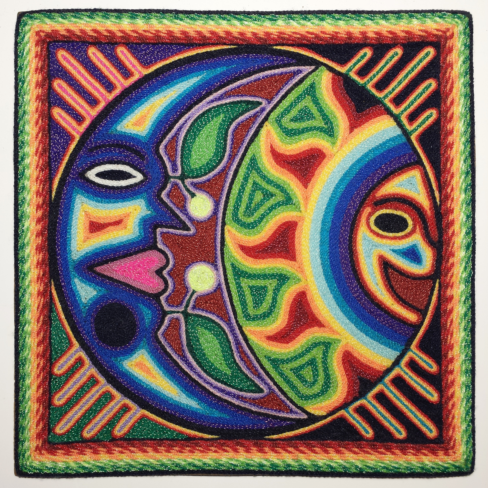 Huichol Yarn Painting by BlueLiquorice on DeviantArt