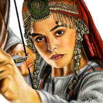 Halime Sultan digital portrait