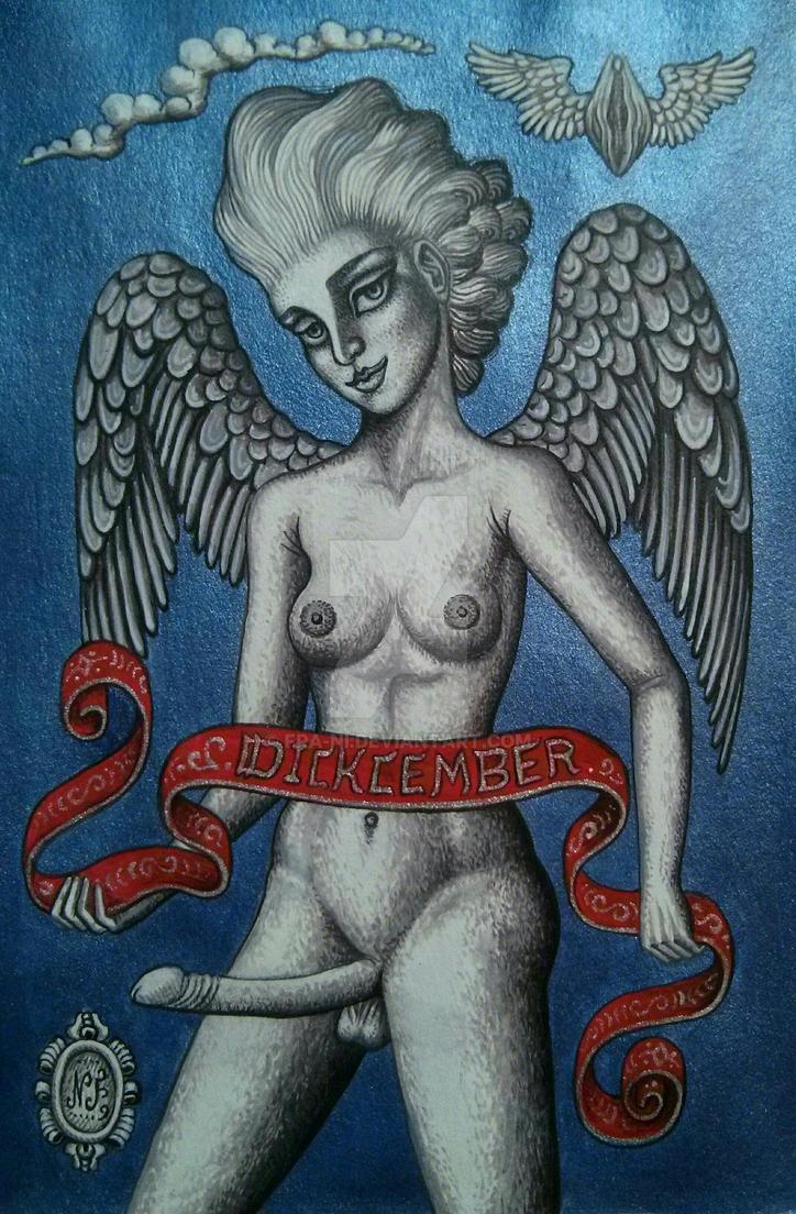 Angel of Dickcember by fra-ni
