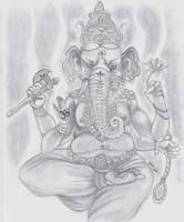 Lord Ganesha by UnitiveOdolwa