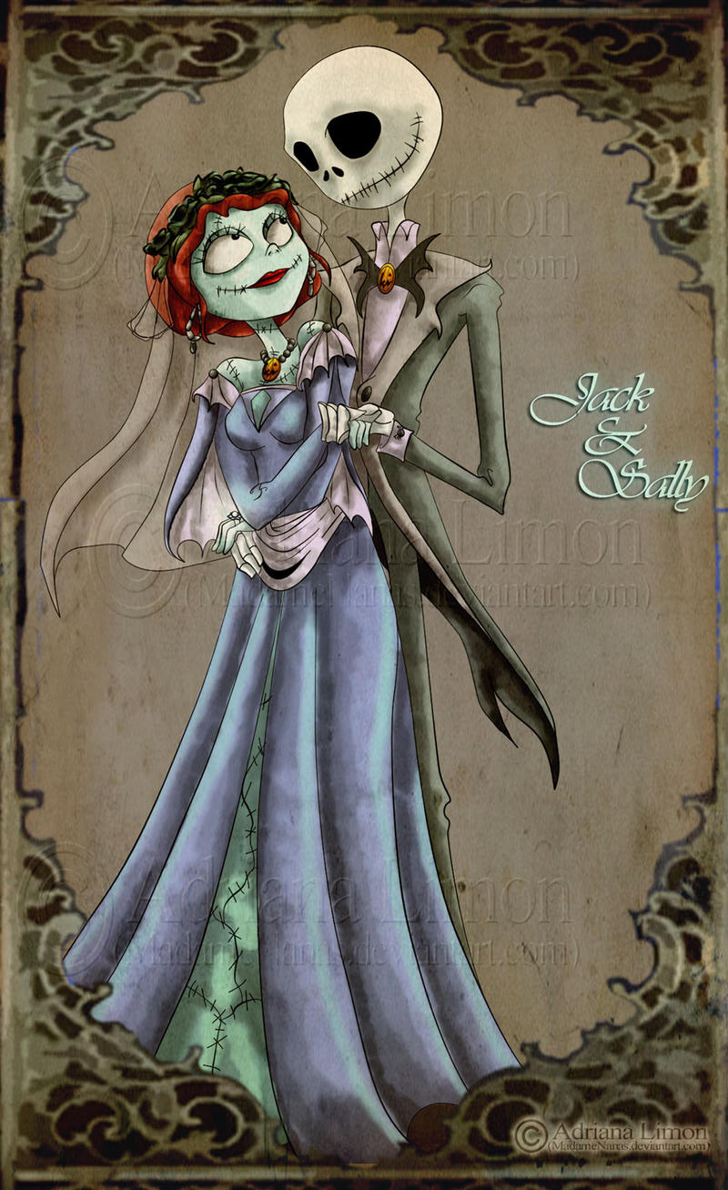 Jack And Sally S Wedding By Madamenanas On Deviantart