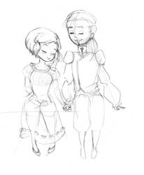 WIP - Ambre and Damian by CalixtaTepes