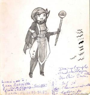 Old drawing - Healer Ambre [+ strange story]