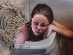 Sad Angel Zoom