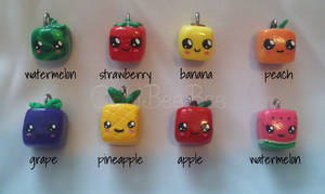 Assorted Cube Fruit Charms