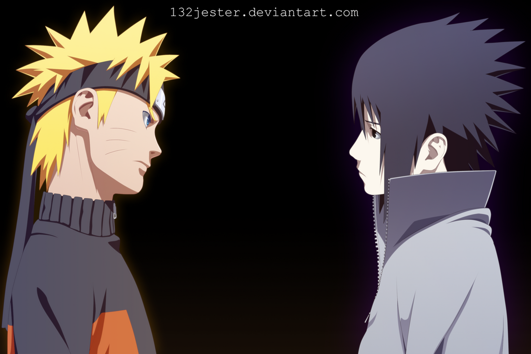 Naruto and Sasuke by 132Jester