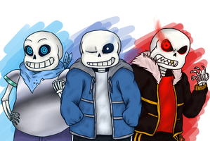 [UNDERTALE] All these Sanses