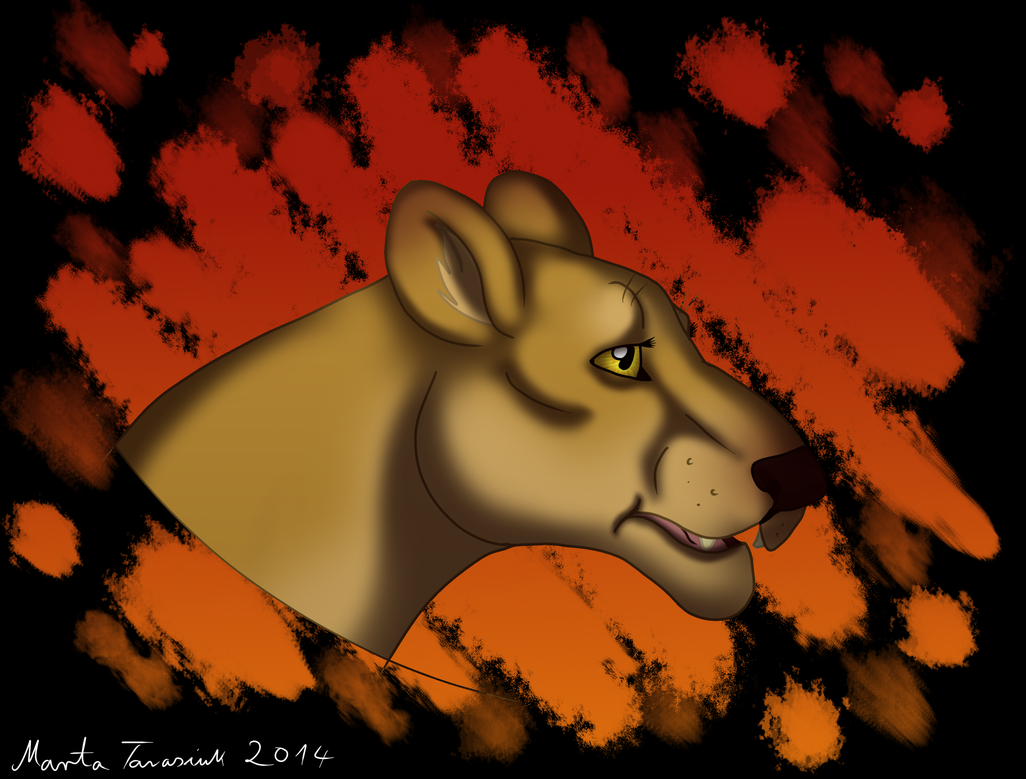 Blazing through the Savanna by MaeraFey