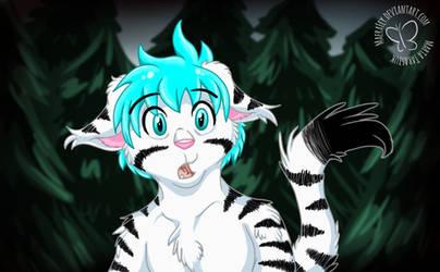 Little Tiger in Dark Woods by MaeraFey