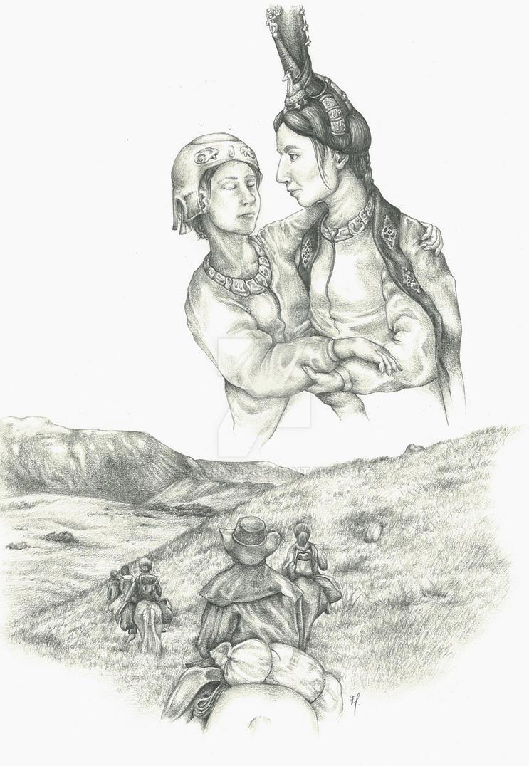 Scythian princess by ElorenArt