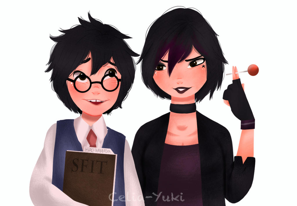 Hiro And Gogo Fanart Nerd!Hiro and Punk!Gog...