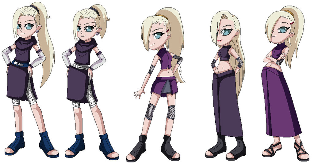 Ino Yamanaka through the ages by Gaara-Rocks-12 on DeviantArt