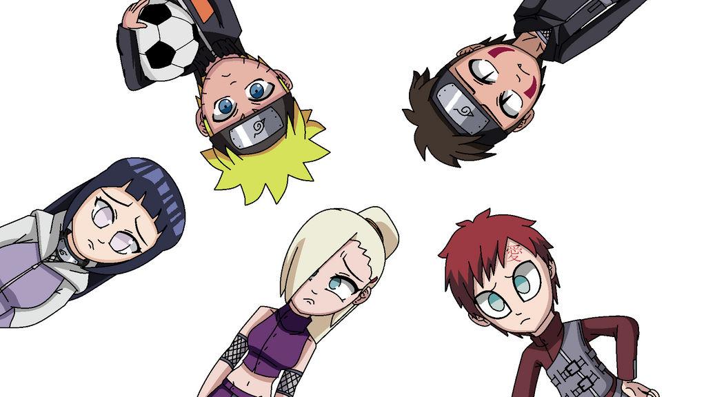 Naruto, Kiba, Ino, Hinata and Gaara - Oh dear   by