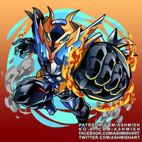 Kamen Rider Cross Z Dragon by ashmish