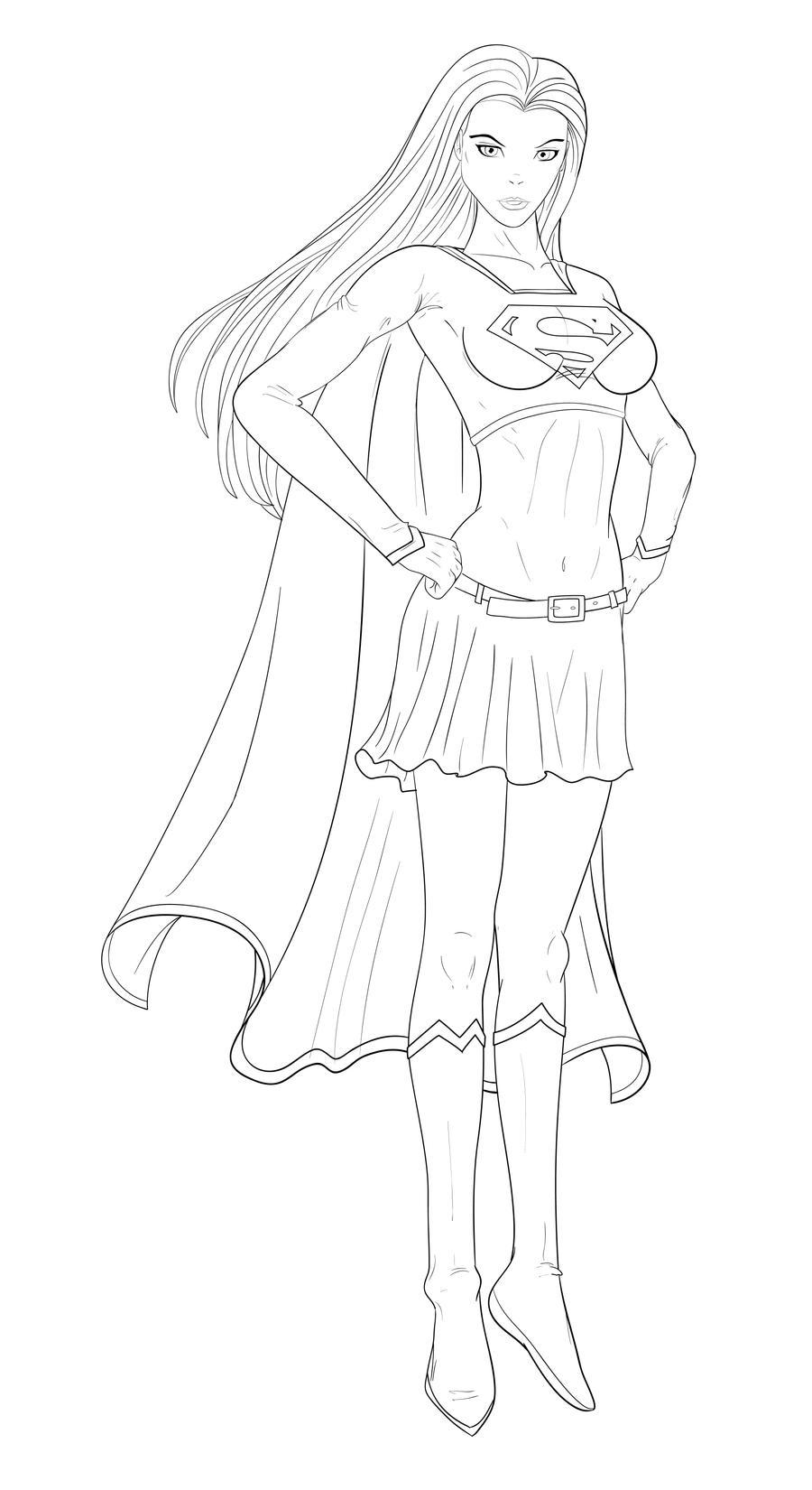 supergirl vector by gbrsou on deviantart