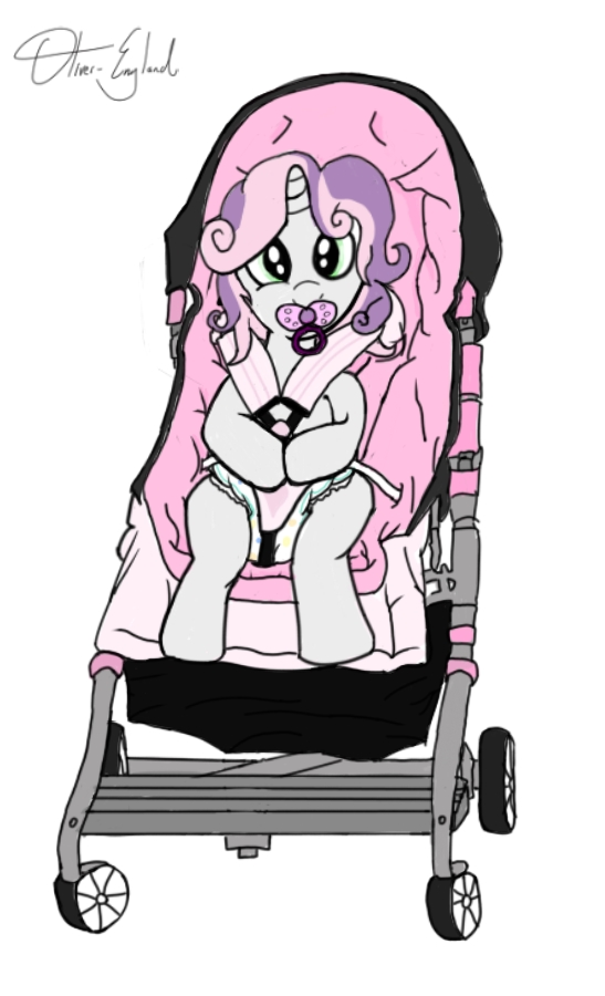 Sweetie Belle in a Stroller by Oliver-England