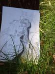 Ayanami Rei Pencil Drawing