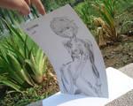 Ayanami Rei Pencil A4 card papper