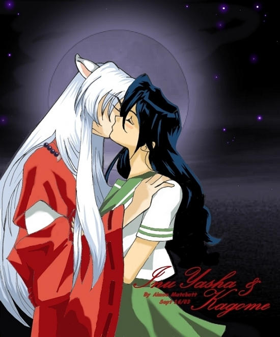 Inuyasha Kissing Kagome by Xale on DeviantArt