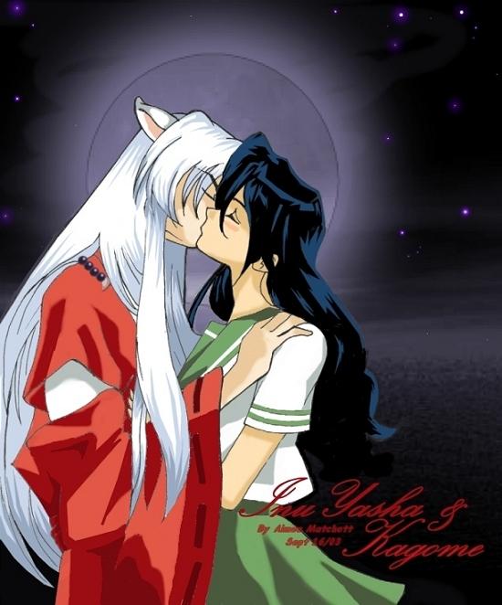 Inuyasha Kissing Kagome By Xale On Deviantart