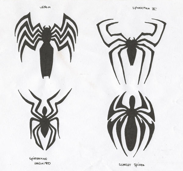 the gallery for gt spiderman logo drawings