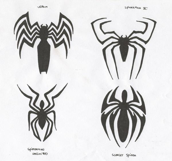 spiderman logo's