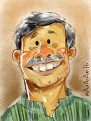 Caricature - Anisul Hoque by Mahatab