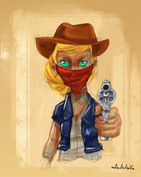 Sci fi Cowgirl by Mahatab