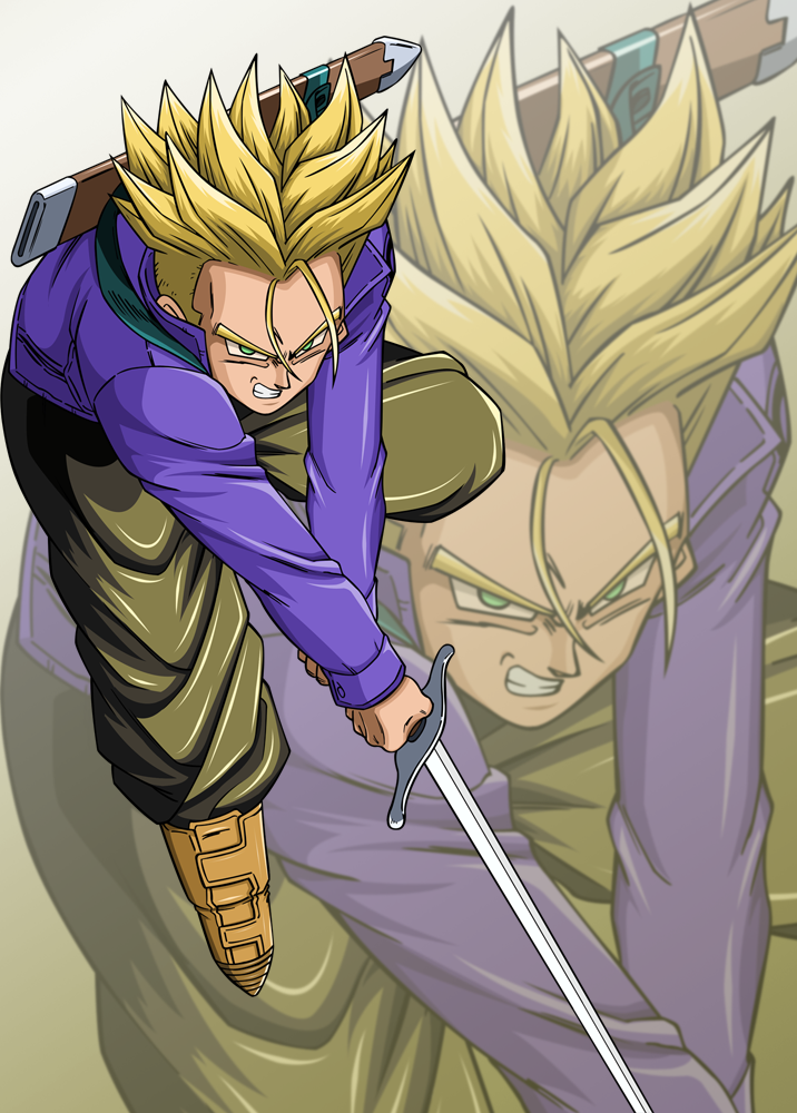 Trunks Dragon ball by kiranZ
