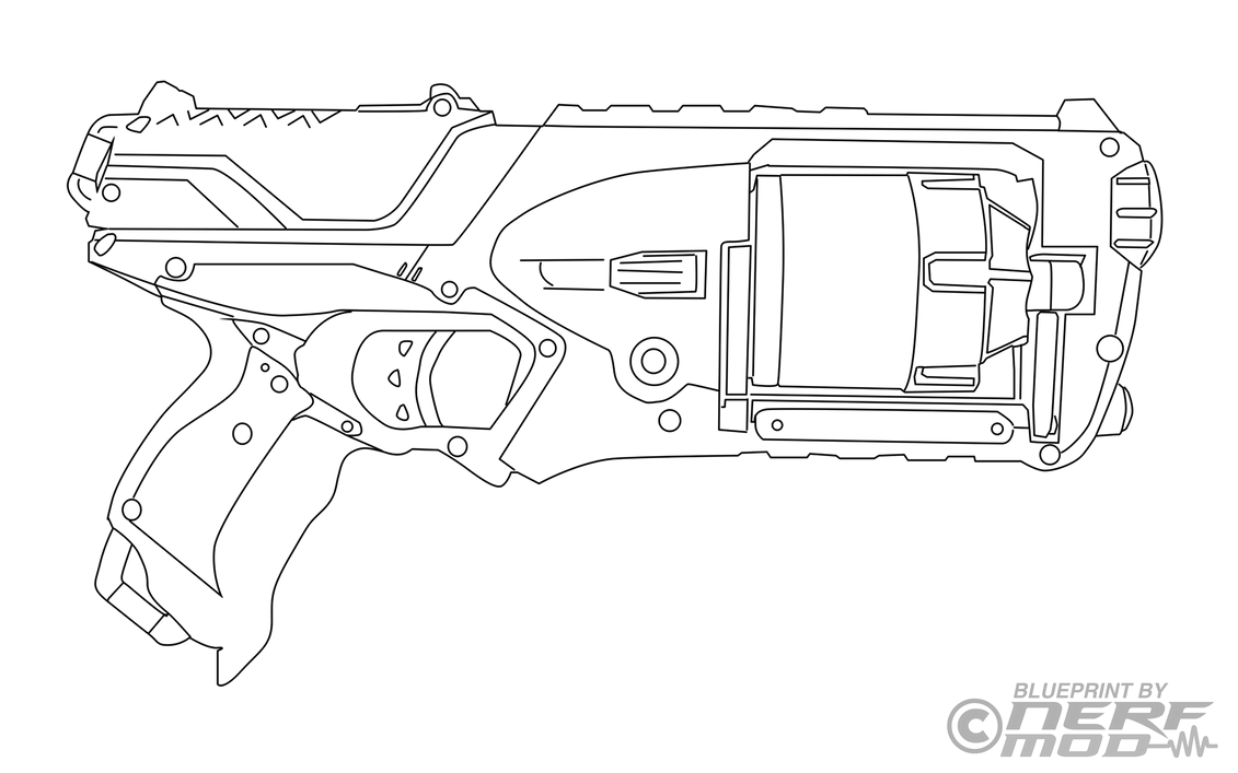 Nerfmod Nerf Strongarm Template By Nerfmod On Deviantart