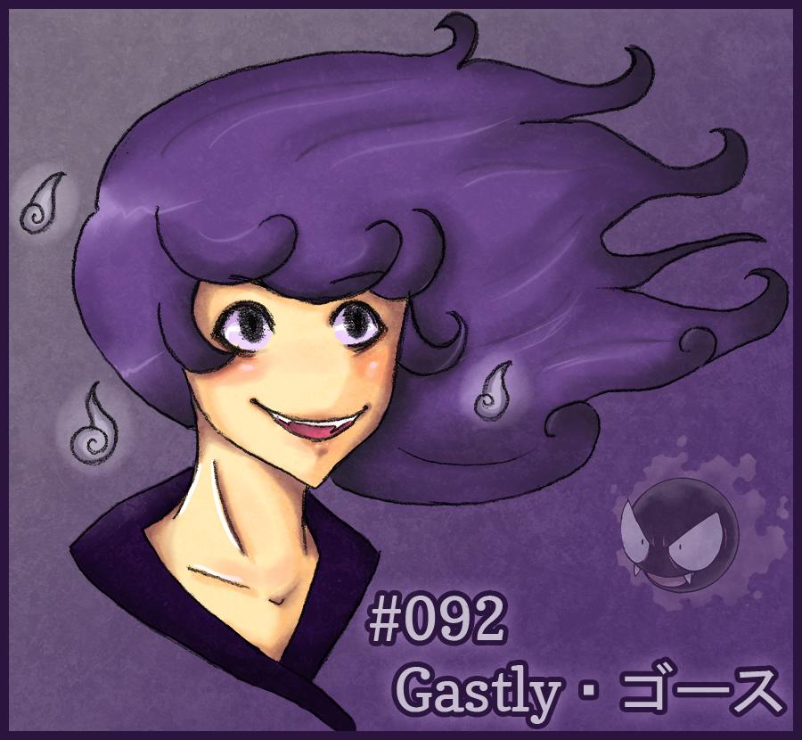 Gastly Gijinka by niyoels