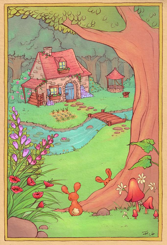 Flower house by Chpi