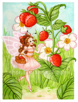 Strawberries' fairy