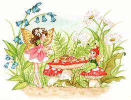 Fairies' teatime by Chpi